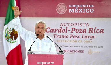 Presidente respalda acuerdo para concluir autopista Cardel-Poza Rica