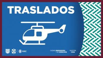 Cóndores de la SSC realizaron el servicio de ambulancia aérea para un niño de ocho años de edad con traumatismo craneoencefálico severo