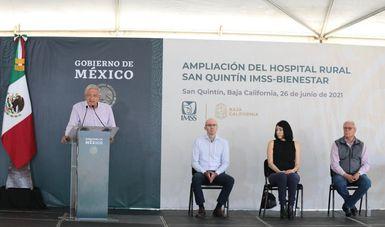 IMSS-Bienestar pasará de 80 a 200 hospitales rurales, anuncia presidente en San Quintín