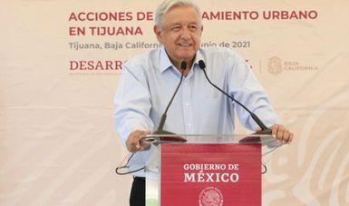 Gobierno federal continuará apoyando colonias populares, afirma presidente en Tijuana