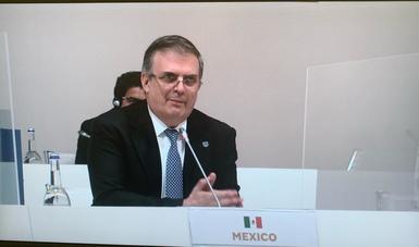 México promueve respuesta global ante la pandemia