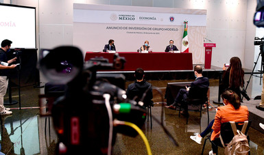 Mensaje de la secretaria de Economía, Tatiana Clouthier Carrillo, con motivo del anuncio de inversión de Grupo Modelo
