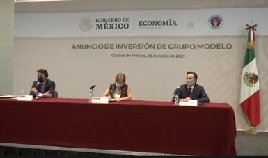 Grupo Modelo, la Secretaría de Economía y el Gobierno de Veracruz anuncian inversión de más de 3,000 millones de pesos.