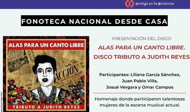 Presentarán el disco Alas para un canto libre en tributo a Judith Reyes
