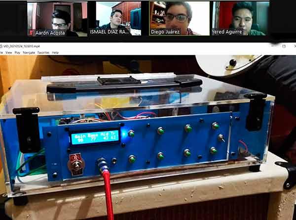 Innovador amplificador de uso a distancia para guitarra eléctrica