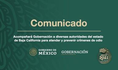 Acompañará Gobernación a diversas autoridades del estado de Baja California para atender y prevenir crímenes de odio