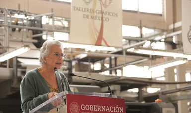Consulta popular ejercicio democrático que nadie debe desalentar, señala secretaria Olga Sánchez Cordero