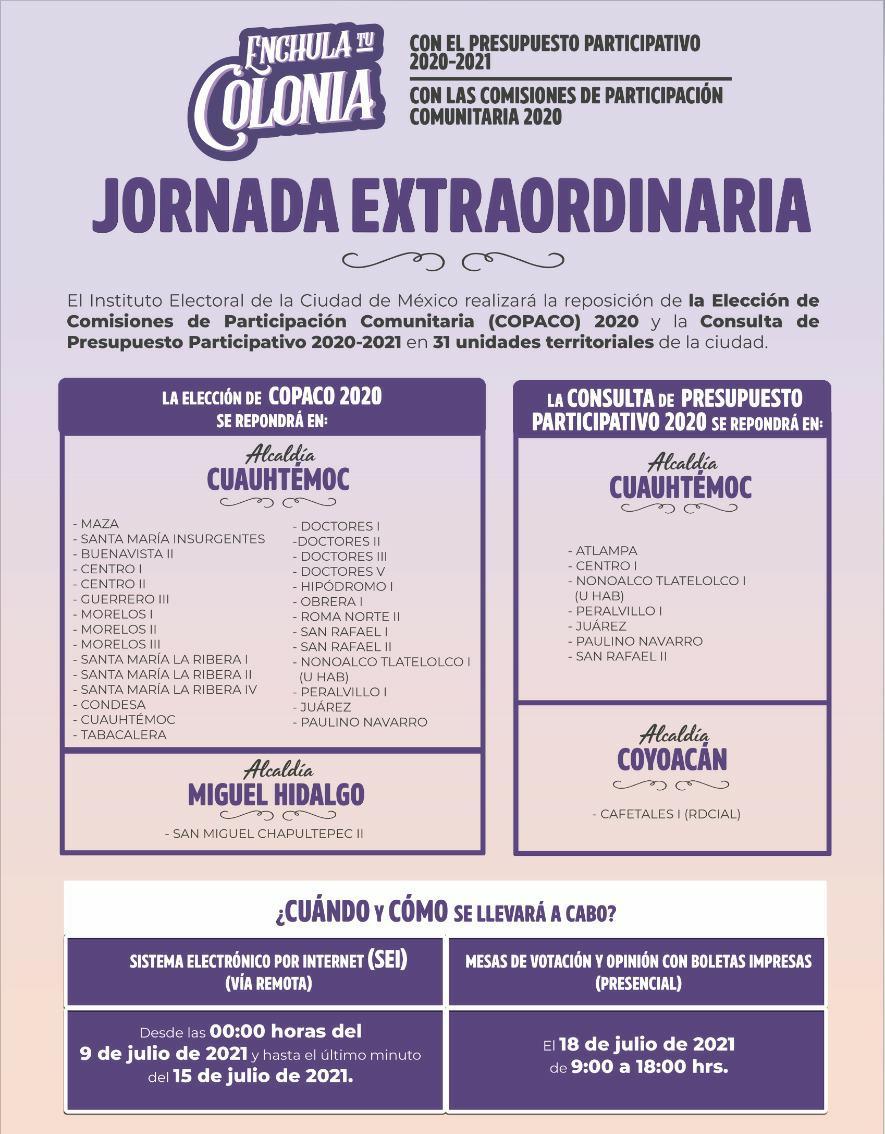 Publica IECM listado de Centros y Mesas Receptoras de Votación y Opinión para opinar y votar en Jornada Extraordinaria