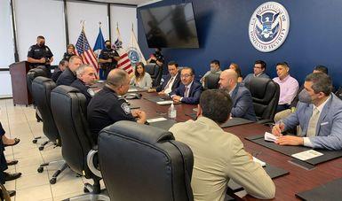 Reunión de trabajo con Oficina de Aduanas y Protección Fronteriza de EEUU, contra tráfico ilícito de armas