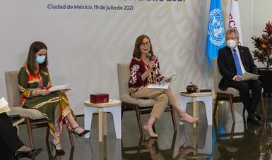Mensaje de la secretaria de Economía, Tatiana Clouthier, en la presentación del Informe Nacional Voluntario sobre la Agenda 2030 en México