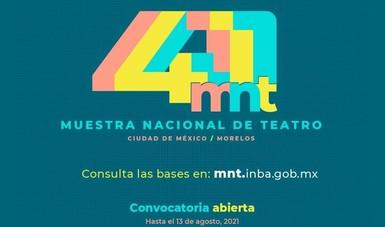 Convocan a la comunidad teatral a formar parte de la programación de la 41 Muestra Nacional de Teatro
