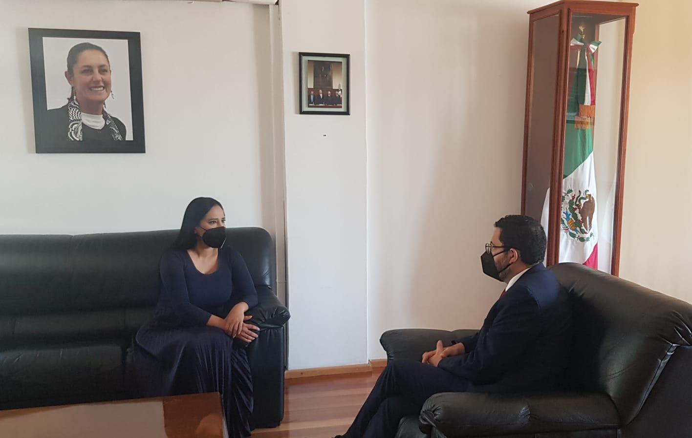 Marti Batres se reúne con Sandra Cuevas, reafirma diálogo con alcaldes de oposición