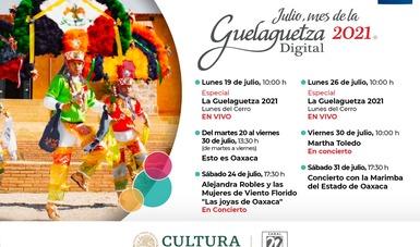 Por segundo año, La Guelaguetza se podrá disfrutar en Contigo en la Distancia