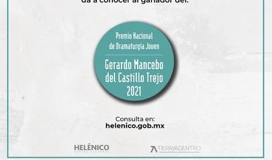 José Emilio Hernández Martín es el ganador del Premio Nacional de Dramaturgia Joven Gerardo Mancebo del Castillo Trejo 2021