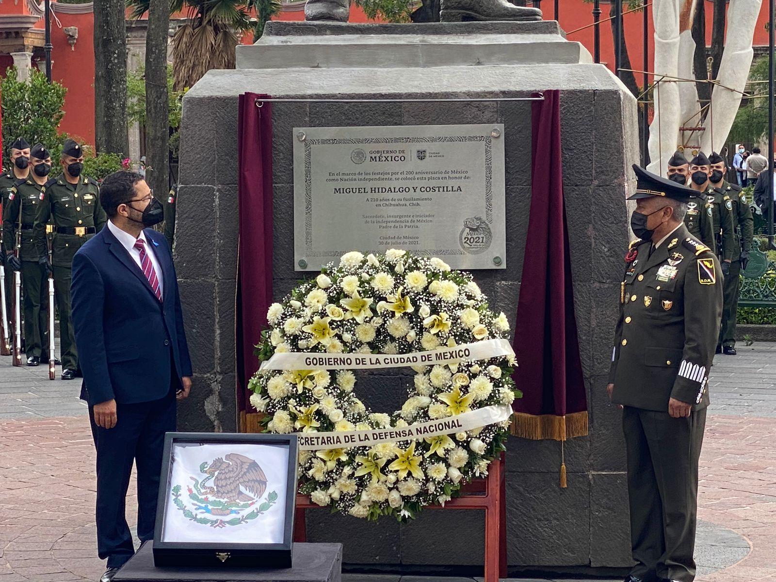 Destaca Martí Batres la lucha de Miguel Hidalgo por los oprimidos en su 210 aniversario luctuoso