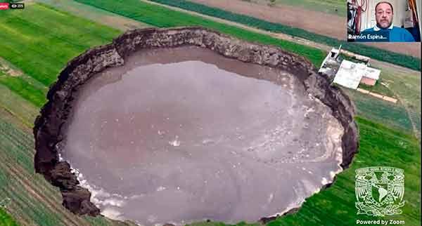 Socavones, fenómenos geológicos que ocurren con frecuencia