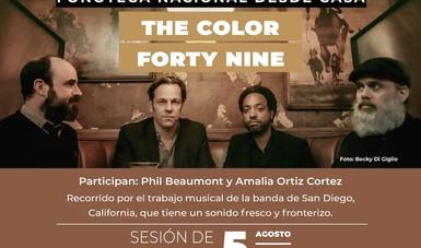 """La banda The Color Forty Nine será invitada de la próxima sesión de """"Fonoteca Nacional desde casa"""""""