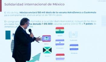 En agosto, México alcanzará los 100 millones de vacunas acumuladas contra COVID-19: Ebrard