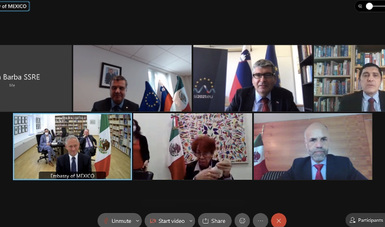 Reunión entre la subsecretaria de Relaciones Exteriores y el secretario de Estado de Eslovenia