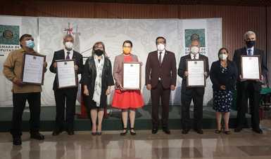 Recibe AEM reconocimiento de la Comisión de Ciencia, Tecnología e Innovación, en San Lázaro