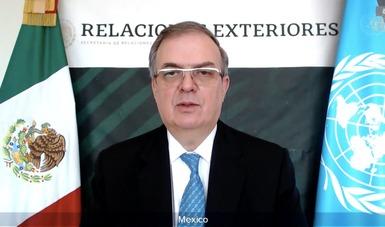 Mensaje del secretario de Relaciones Exteriores, Marcelo Ebrard Casaubon, en el CSONU