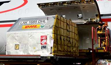 Llega a México el embarque número 63 de Pfizer- BioNTech con 585 mil vacunas envasadas