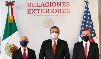 Secretario Marcelo Ebrard recibe delegación de alto nivel de EE.UU. para avanzar en los temas prioritarios de la agenda bilateral y regional