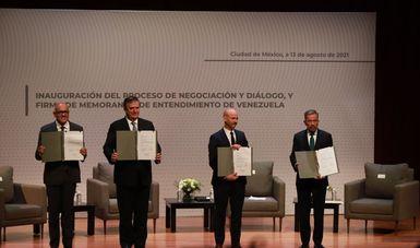 México es anfitrión de la negociación y diálogo entre el Gobierno y la Plataforma Unitaria de Venezuela