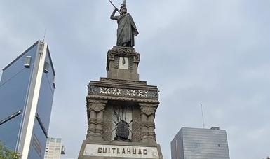 En homenaje al último tlatoani mexica, el INAH entregó la restauración del monumento a Cuauhtémoc, en la CDMX