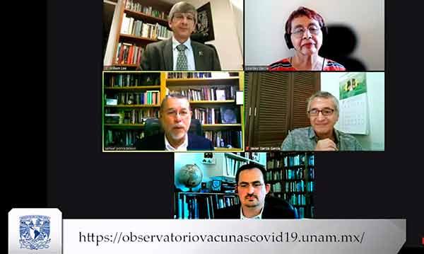 """Presentan la plataforma virtual """"Observatorio de vacunas contra la COVID 19: México"""""""