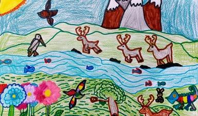 Exposición de dibujo y pintura infantil Alas Sobre Rieles. Construyendo comunidades de paz