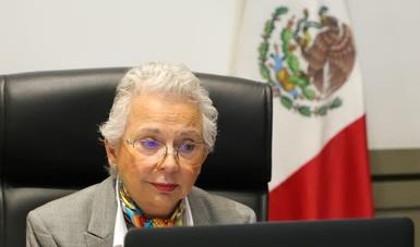 Palabras secretaria de Gobernación en reunión de trabajo entre personas servidoras públicas del gabinete federal y autoridades estatales