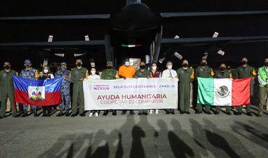Gobierno de México envía ayuda humanitaria a Haití por medio de aeronaves de la Fuerza Aérea Mexicana y de la Marina Armada de México