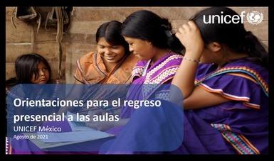 Respalda UNICEF a México en retorno a clases presenciales
