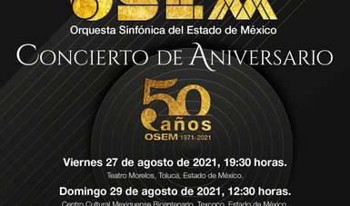 La Orquesta Sinfónica del Estado de México está lista para el concierto de conmemoración por su 50 aniversario