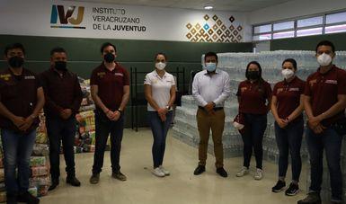SRE, por medio de la Amexcid, entrega ayuda humanitaria a la población afectada por el huracán Grace en Veracruz