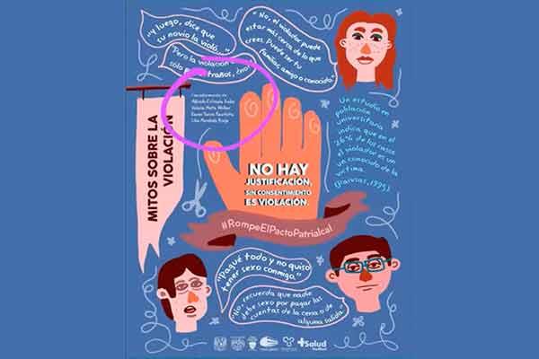 Con carteles, apoyan campaña contra la violencia sexual
