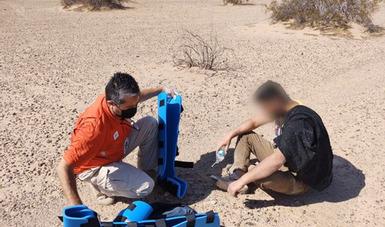 Rescata Grupo Beta Mexicali a persona migrante de la India que cayó de muro fronterizo