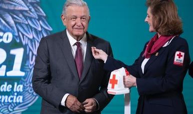 Presidente encabeza inicio de Colecta Nacional 2021 de Cruz Roja Mexicana