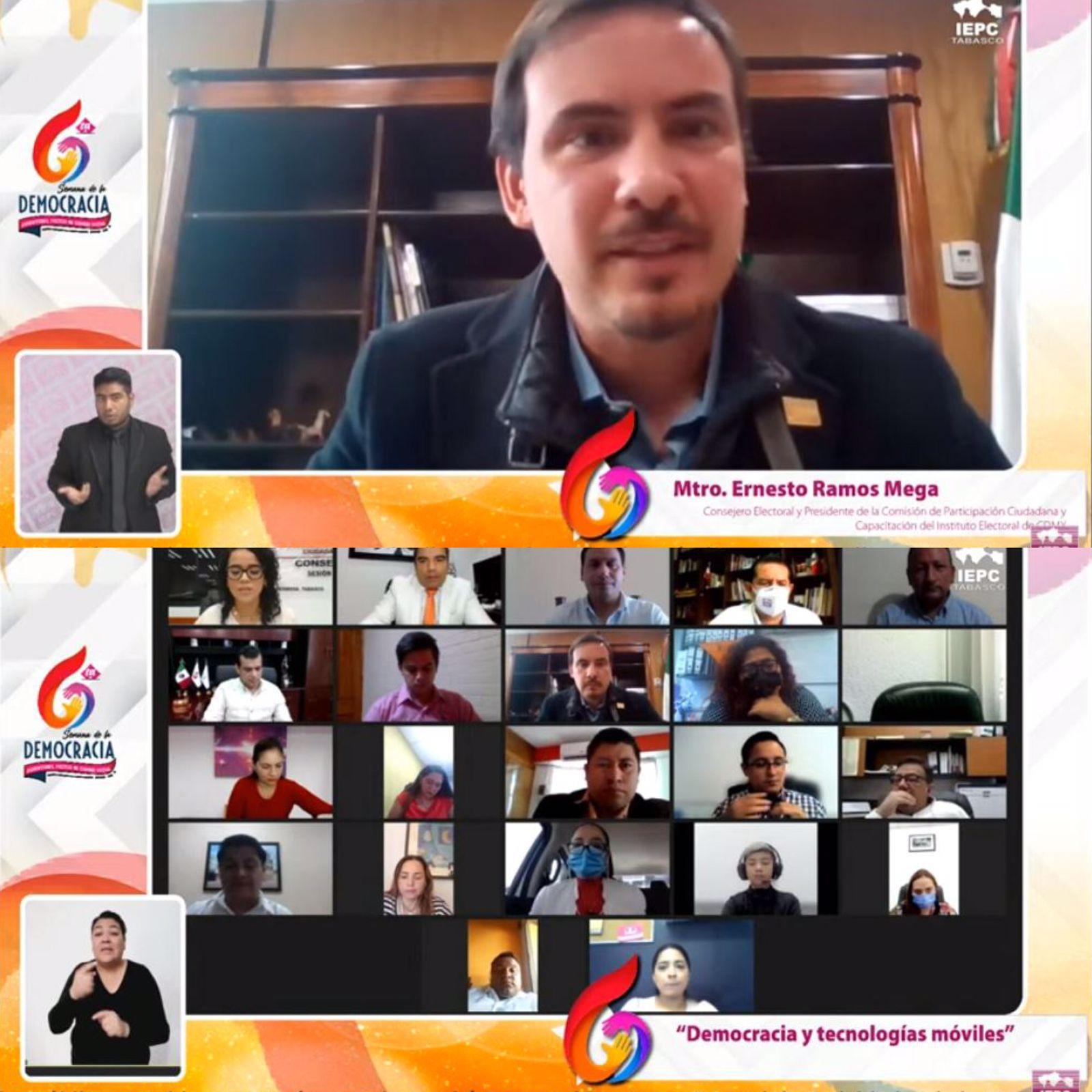 Las tecnologías incentivan participación político-electoral de las personas jóvenes en el régimen democrático: Consejero del IECM, Ernesto Ramos