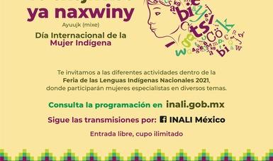 La FLIN 2021 conmemorará el Día Internacional de la Mujer Indígena, con una serie de actividades artísticas y académicas