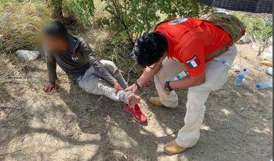 Rescatan INM y GN a 162 personas migrantes abandonadas en una bodega