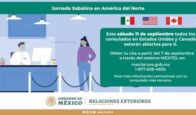 Tercera jornada sabatina en América del Norte