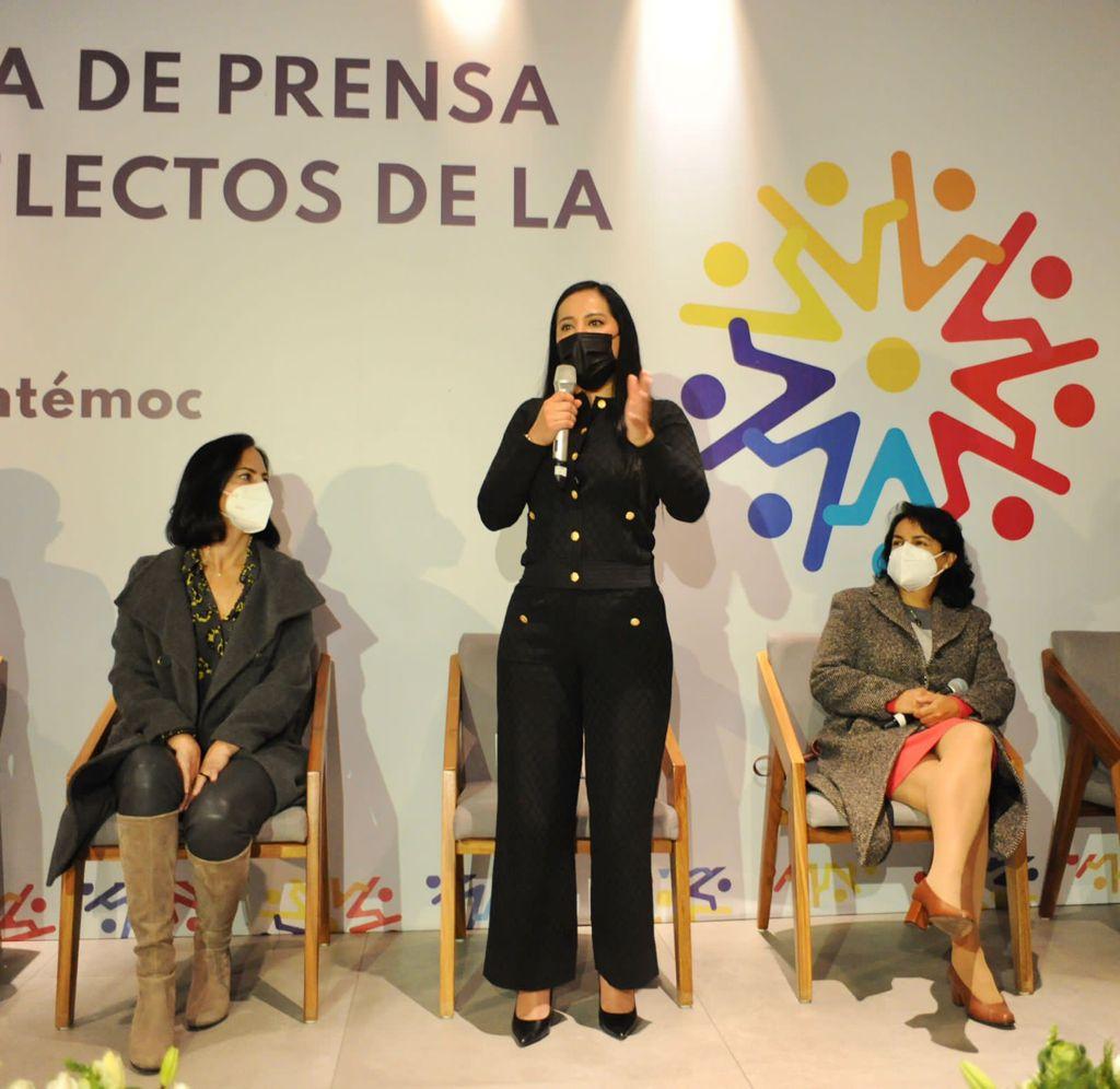 En Cuauhtémoc más que monumentos a la mujer, habrá garantías a una vida sin violencia al ser la primera alcaldía refugio en toda la CDMX: Sandra Cuevas