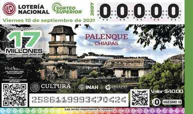 La emblemática ciudad maya de Palenque viste billete de lotería