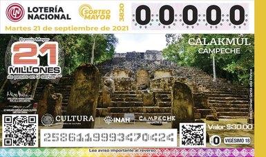 La mística Calakmul en Campeche se colocaen billetes de lotería