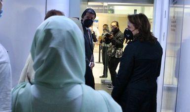 Quinto grupo de ciudadanos afganos llega a México