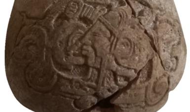 Descubren milenaria vasija con escritura jeroglífica en obras del Tren Maya, en Yucatán