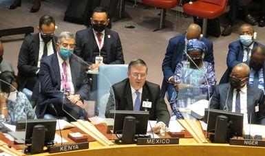 Canciller Marcelo Ebrard llama a sistema multilateral a enfrentar cambio climático en la ONU