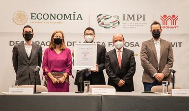 Secretaría de Economía e IMPI declaran a Infonavit como marca famosa